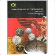 Álbum para as 16 moedas da Alemanha - 3o Reich- 1938-1945