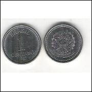 1987 - 1 Centavo, aço, fc.