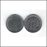 1988 - 1 Centavo, aço, fc.