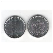1986 - 5 Centavos, aço, fc.