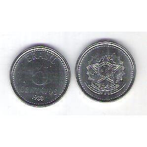 1988 - 5 Centavos, aço, fc.