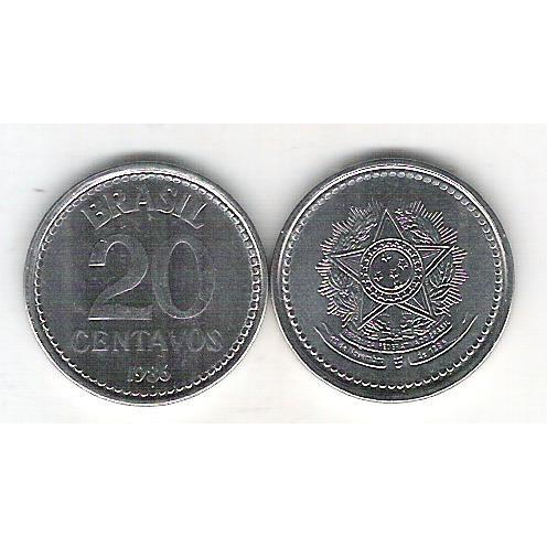 1986 - 20 Centavos, aço, fc.