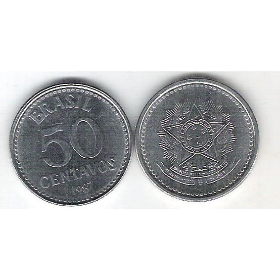1987 - 50 Centavos, aço, fc.