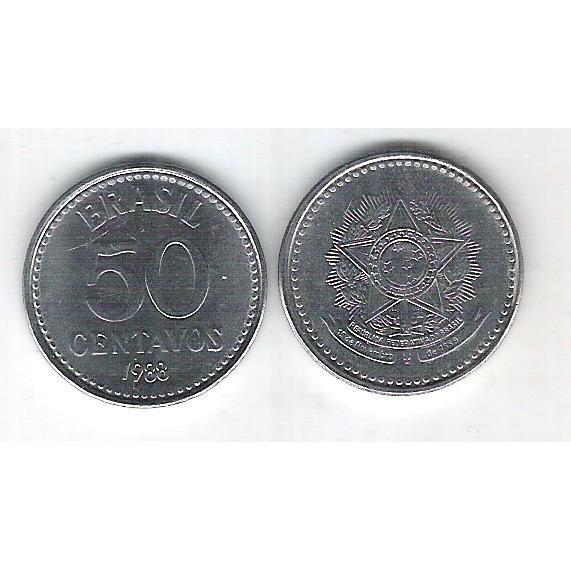 1988 -  50 Centavos, aço, fc.