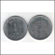 1986 - 1 Cruzado, aço, fc.