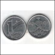 1989 -  1 Centavo, aço, fc. Boiadeiro