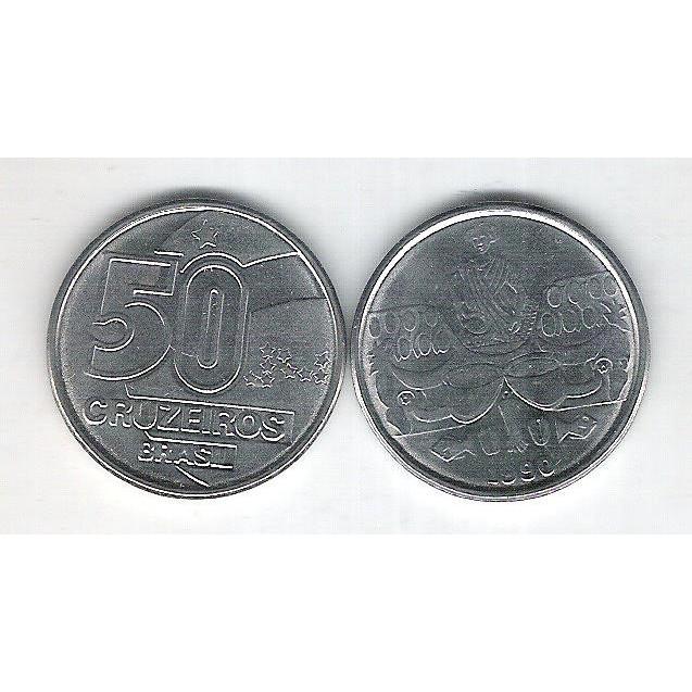 1990 - 50 Cruzeiros, aço, fc. Baiana.