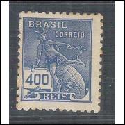1937/39 - 316 -  Série Vovó, 400 Réis, filigrana Cruz de Cristo. Novo, conforme foto.
