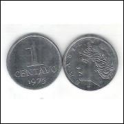 1975 - 1 Centavo, aço, s/fc.