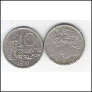 1970 - 10 Centavos, soberba. Cupro-níquel.
