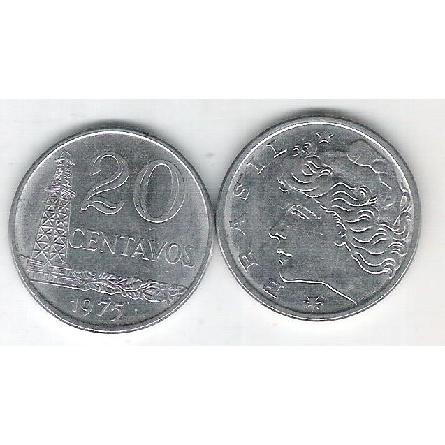 1975 - 20 Centavos, fc. Aço.