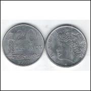 1979 - 20 Centavos, fc. Aço.