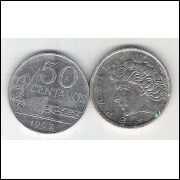 1967 - 50 Centavos, fc. Cupro-níquel