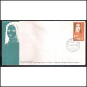 FDC-032 - 1973 - Série Personalidades, Santa Teresa do Menino Jesus. Religião.