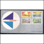 FDC-036 - 1973 - Série Embarcações populares. Carimbo 1 dia - São Paulo.