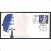 FDC-044 - 1974 - Centenário de nascimento de Guilherme Marconi. Carimbo comemorativo + 1o dia.