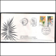 FDC-094 - 1976 - Fauna e Flora. Orquídea e Mico-Leão. Carimbo Comemorativo + 1a dia. Vitória-ES.
