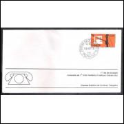 FDC-088 - 1976 - Centenário da 1a Linha Telefônica criada por Graham Bell. Carimbo 1o dia.