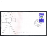 FDC-095 - 1976 - Indústria Cinematografica Brasileira. Cinema. Carimbo 1o dia.
