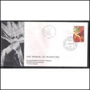 FDC-115 - 1977 - Ano Mundial do Reumatismo. Medicina. Carimbo 1o DIA + COMEMORATIVO.