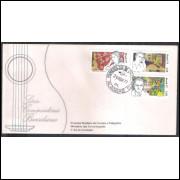 FDC-117 - 1977 - Compositores brasileiros. Música. Carimbo 1o DIA - Paraná.