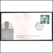 FDC-134 - 1977 - Sesquicentenário do Observatóriio Nacional. Astronomia. Carimbo 1o dia.