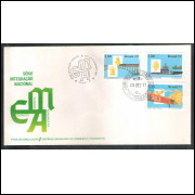 FDC-141 - 1977 - Integração Nacional. Ferrovia, aviação e marinha. Carimbo COMEMORATIVO. Maceió.