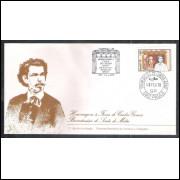FDC-145 - 1978 - Carlos Gomes. Scala de Milão. Música. Carimbo 1o dia + COMEMORATIVO - Campinas-SP