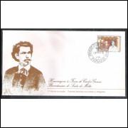 FDC-145 - 1978 - Carlos Gomes. Scala de Milão. Música. Carimbo 1o dia - Paraná.