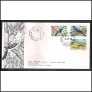 FDC-150 - 1978 - Proteção à Fauna. Pássaros Brasileiros. Carimbo 1o dia + Comemorativo - Brasilia-DF