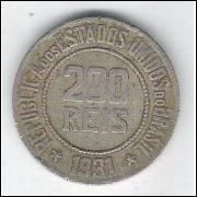 1931 - Brasil, 200 Réis, cuproníquel, mbc.