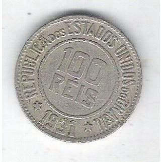 1931 - Brasil, 100 Réis, cuproníquel, mbc.