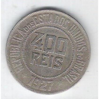 1927 - Brasil, 400 Réis, cuproníquel, mbc.