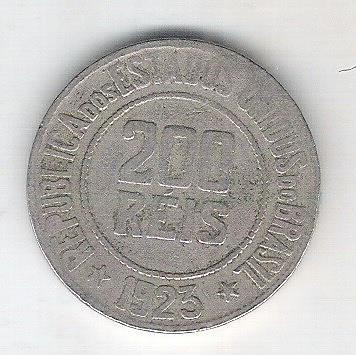 1923 - Brasil, 200 Réis, cuproníquel, bc.