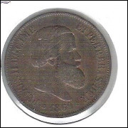 1869 - Brasil-Império, Dom Pedro II, 20 Réis, bronze, soberba.