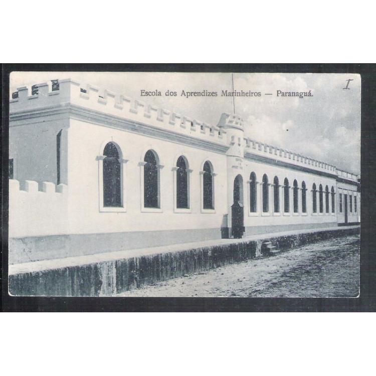 PR05 - Postal antigo, Paranaguá, Escola de Aprendizes Marinheiros.