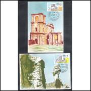 max027/8 - 1974  - Turismo - Sete Cidades e Ruínas Missões. Série completa, 2 máximos.