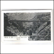 FER04 - Postal antigo, Estrada de Ferro  Curityba-Paranagua. Ponte. Ferrovia. Machado da Costa S. A.