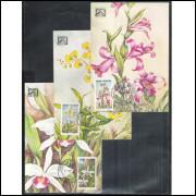 max068-70 - 1982 Brapex V. Orquídeas. Flora. Exposição Filatélica.