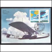 max101 - 1984 Avião Dornier Wal. 50 Anos do 1o Vôo Regular Transoceânico do Mundo - Alemanha-Brasil.