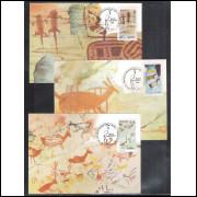 max113-15 - 1985 Pinturas Rupestres. Cerca Grande, Lapa da Cabocla e Grande Abrigo de Santana.