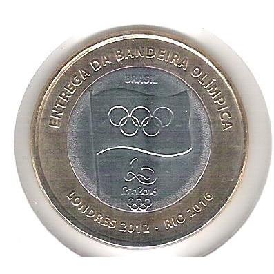 2012 - 1 Real, fc, ENTREGA DA BANDEIRA OLÍMPICA.