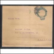 CT-22 - Brasil - 1918 - Cinta de 20 Réis, Cabeça da Liberdade, sem barrete frígio, circulada.