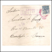 EN-76 - Envelope de 300 Réis, Cabeça da Liberdade, registrado circulado 1930, Lages-Curitiba.