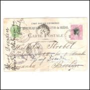 BP-57 - Bilhete Postal de 100 Réis, , circulado 1908, Ponta Grossa para Berlin.