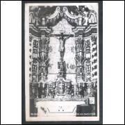OP04 - Foto Postal Colombo, Ouro Preto, Igreja, altar no consistório.