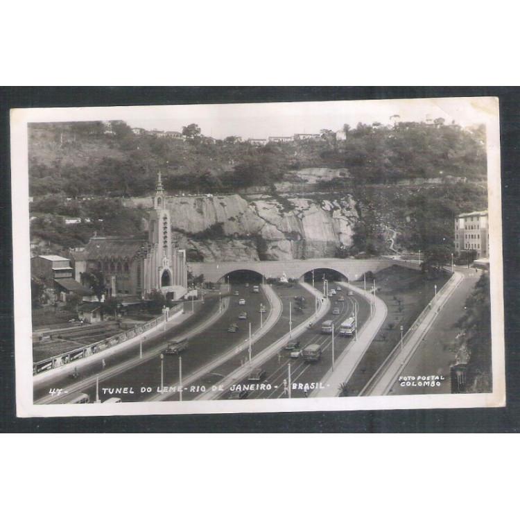 RJ139 - Foto Postal Colombo, Túnel do Leme, Rio de Janeiro.