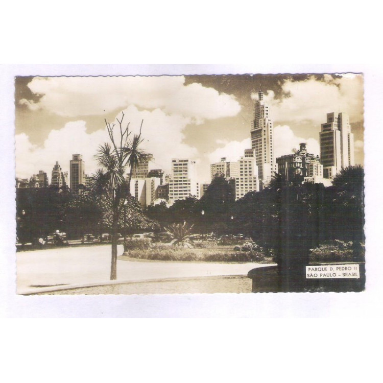 SP60 - Foto Postal, Parque D. Pedro II, São Paulo.