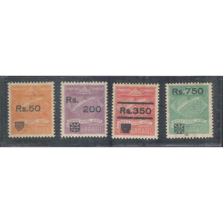 1930 - K-12/15 - Série Syndicato Condor. Provisórios para as tarifas de 5 gramas. Novo, com goma.