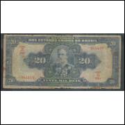 R119d - 20 Mil Réis, ano: 1942, Tesouro Nacional, 16a estampa. Deodoro da Fonseca.